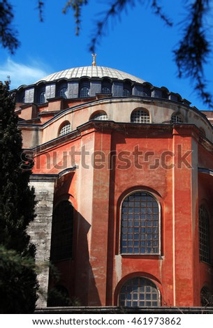 detail shot from ancient religious building Aya Sofia in istanbul, Turkey
