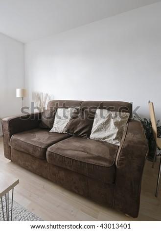 detail shot of modern living room furniture - stock photo