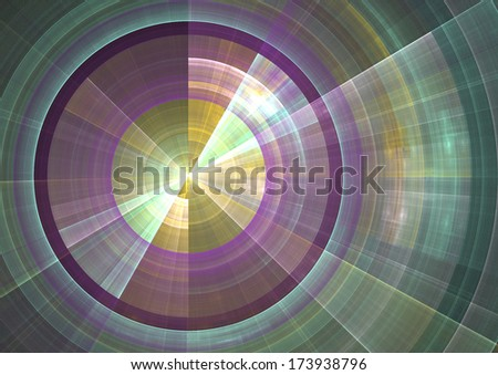 Detail view of sonar screen in fractal form - stock photo