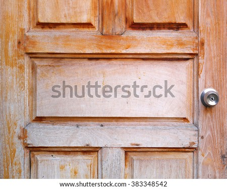 Detail vintage wooden door - stock photo