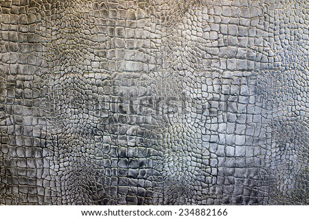 Detail wall plaster crocodile leather texture background - stock photo