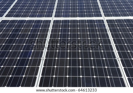 Detailed background of a big solar panel - stock photo