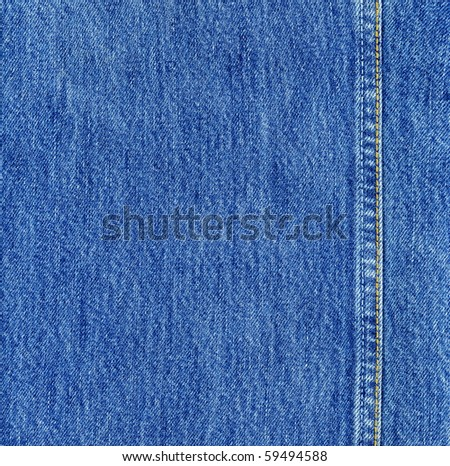 detailed blue jeans texture - stock photo
