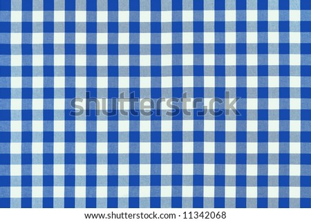 Detailed blue picnic cloth - stock photo