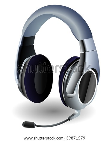 Detailed headset used by video gamers. - stock photo