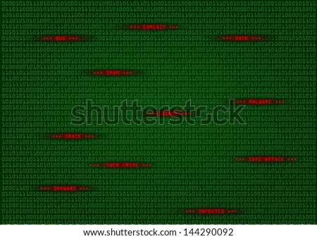 detailed illustration of a computer virus detection, spyware concept - stock photo