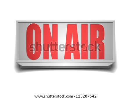detailed illustration of a white on air sign - stock photo
