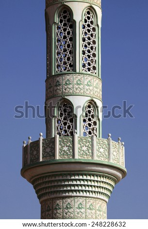 Detailed lacing of a minaret - stock photo