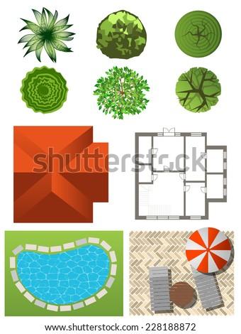 Detailed Landscape Design Elements Make Your Stock Vector 215103190 Shutterstock
