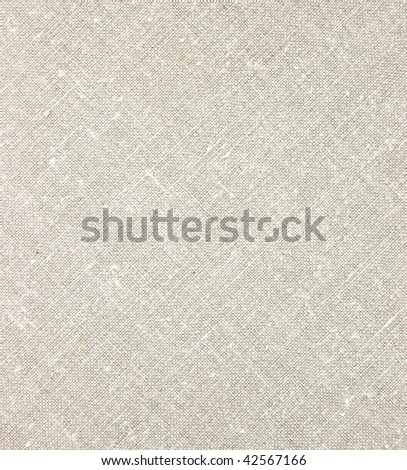 Detailed Natural Light Linen Texture Closeup, vintage textured fabric burlap, rustic background in tan, beige, yellowish, grey canvas diagonal pattern copy space - stock photo