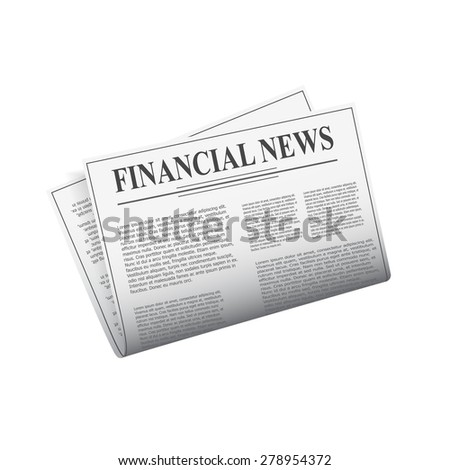 Detailed newspaper isolated on white background for e-business, web sites, mobile applications, banners, corporate brochures, book covers, layouts etc. Raster illustration - stock photo