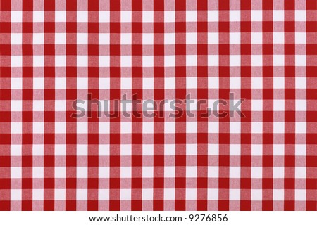 Detailed red picnic cloth - stock photo