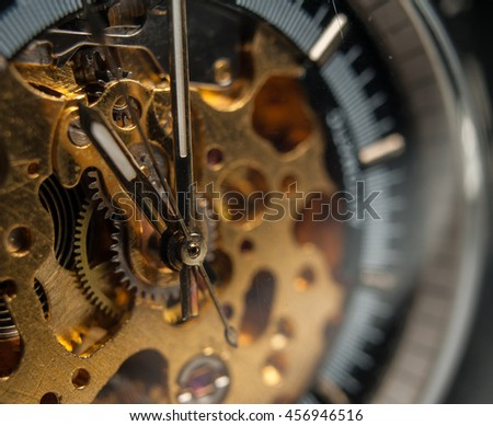Detailed shot of a vintage watch or old watch.