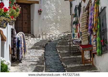 Detailed view of street in Alpujarra, Sierra Nevada, Granada - stock photo