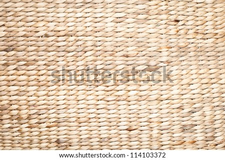 Detailed wicker or rattan as a background image - stock photo