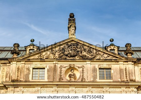 Detailes perspective of the Great Garden Palace Dresden in Germany