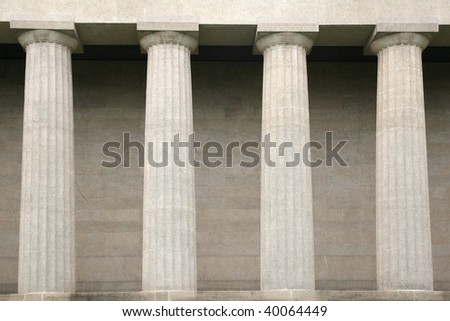 Detaill of Greek columns - stock photo