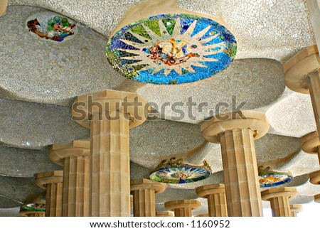 Details from Parc Guell, Barcelona ,Spain