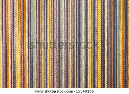 Details of a colorful striped fabric