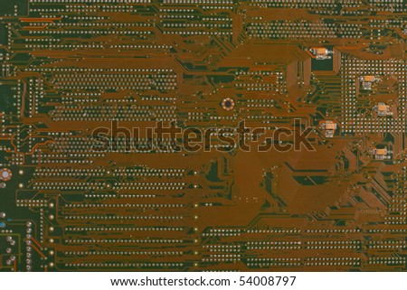Details of a computer motherboard - stock photo