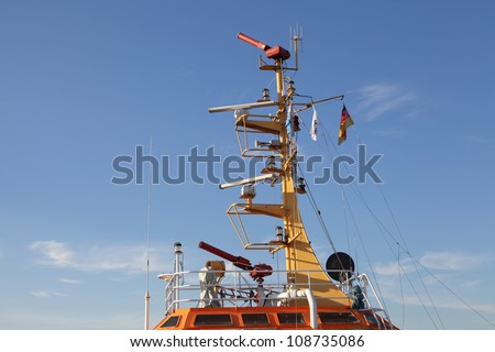 details of a firefighting vessel