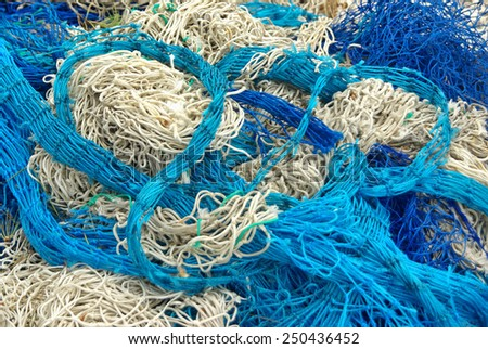 Details of a fisher net - stock photo