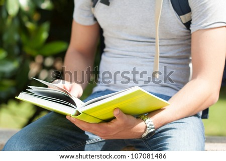 Details of a student - stock photo