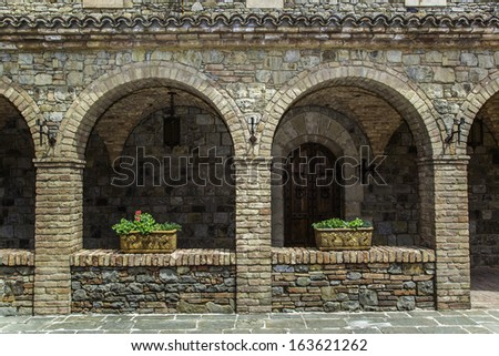 Details of an old building - stock photo