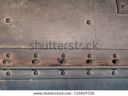 details of an old steam locomotive - stock photo