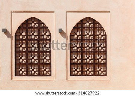 Details of architecture from the Sultanate of Oman - stock photo