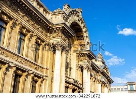 Details of Brussels Stock Exchange - Belgium - stock photo