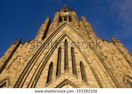 Details of Catholic Church at Canela, Rio Grande do Sul - Brazil - stock photo