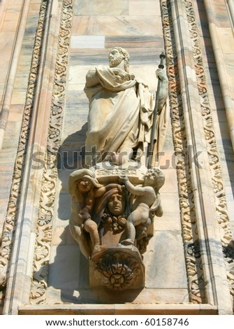 Details of Duomo in Milan, Italy - stock photo