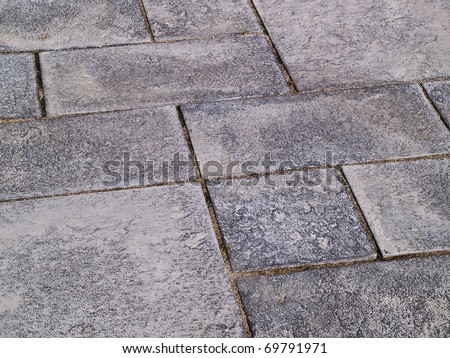 Wonderful Details Of Gray Black And White Colors Stone Garden Tiles Floor