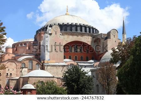 Details of Hagia Sophia in Istanbul, Turkey - stock photo