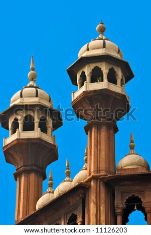 Details of Jama Masjid Mosque, old Delhi, India. - stock photo