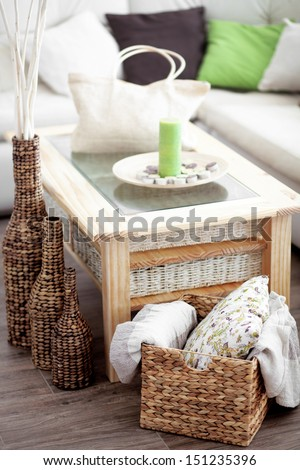 Details of modern cozy interior - stock photo
