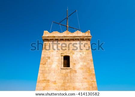details of montjuic castle, barcelona - stock photo