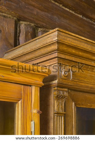 Details of old capboards - stock photo