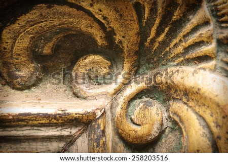 Details of old picture frames - stock photo