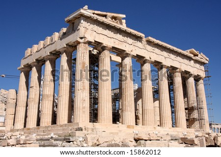 details of Parthenon, Acropolis in Athens â?? Greece