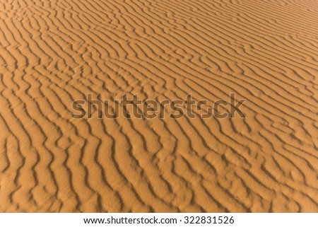 details of sand in the desert - stock photo