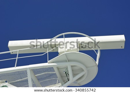 Details of the antenna of a nautical radar