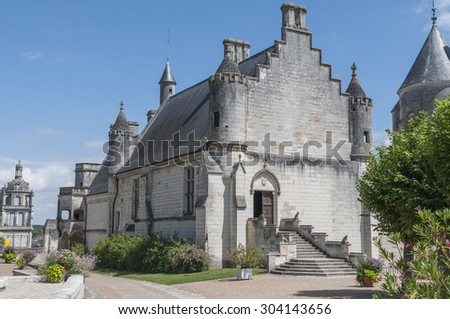 Details of the city Loches Loire France