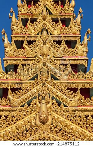 Details of the Global Vipassana Pagoda is a Meditation Hall in Mumbai, India - stock photo