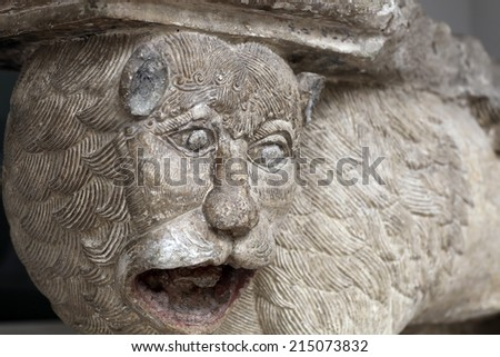 Details of the lion gate, Moscow Kremlin, Russia