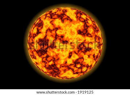 Details on a red star surface (sun) - abstract - stock photo