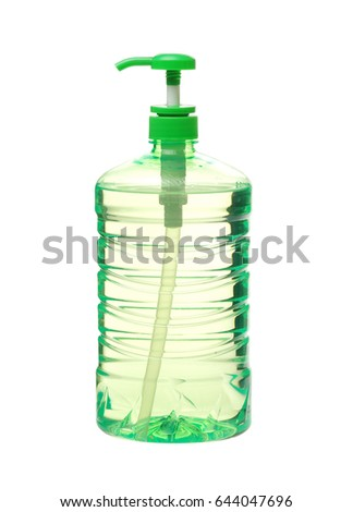 Detergent bottle on white background