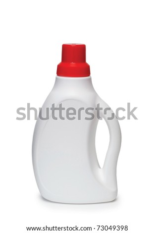 Detergent on a white background, isolated, close-up. - stock photo