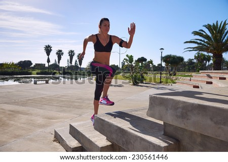 determination to burn calories and increase fitness with strength and speed training - stock photo